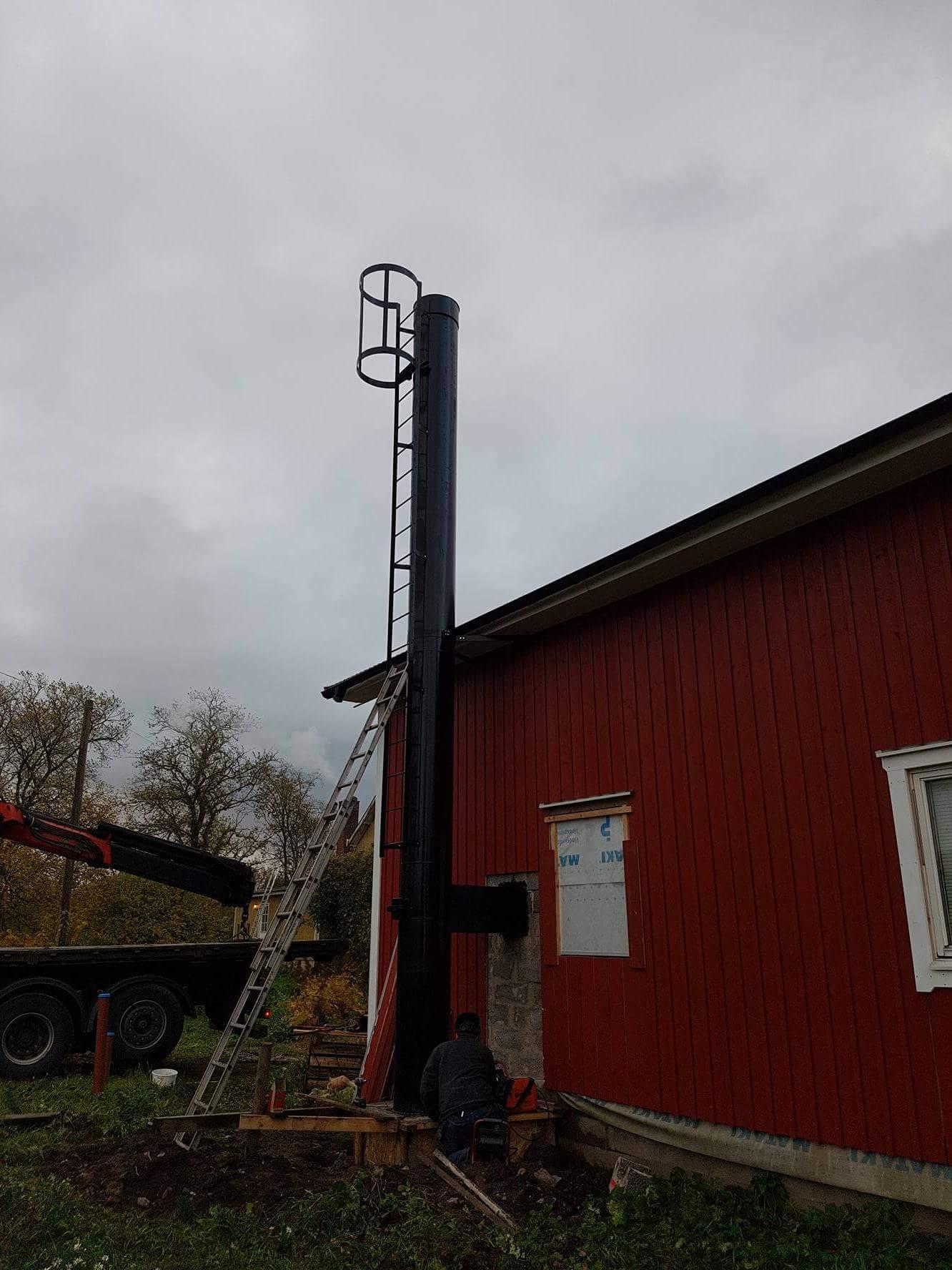 Tillverkning och montering av skorsten